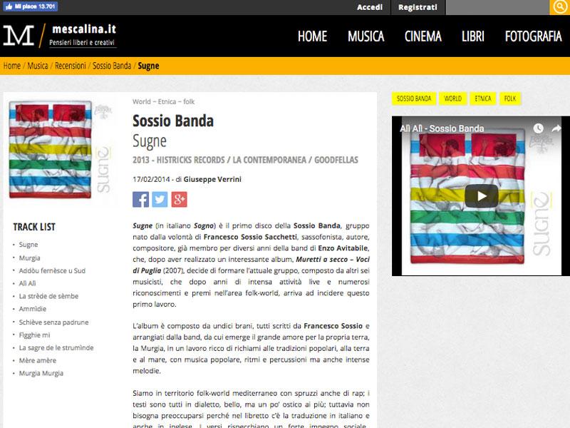 MESCALINA: Recensione album Sugne